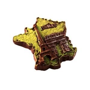 Magnet France en chocolat noir 72% pur beurre de cacao.